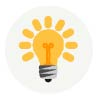 Icon: yellow lightbulb