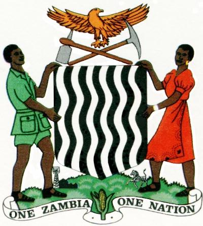 Zambia government coat of arms