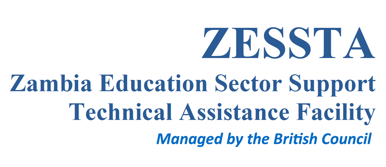 Zambia Education Sector Support Technical Assistance Facility (ZESSTA) - managed by the British Council.  Logo