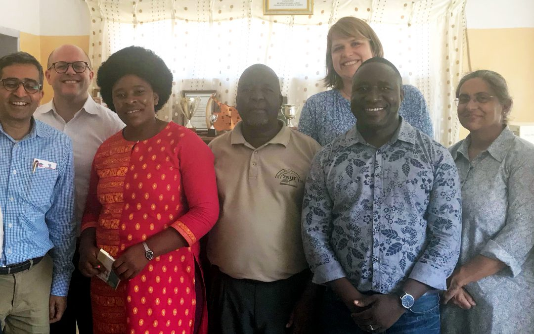 The TaRL Africa Board with members of the Catch Up team in Kazungula, Zambia.