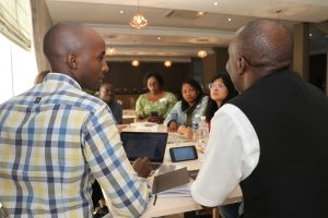 TaRL Africa Community members in discussion during the 2019 TaRL Community Meetings in Botswana.