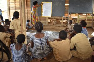 A teacher conducts activities during PEC programme in Cote d'Ivoire